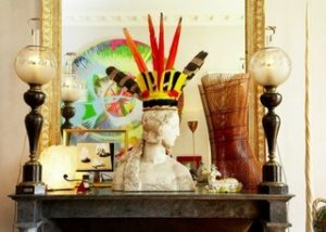 A Boho Chic Vignette by Jacques Grange
