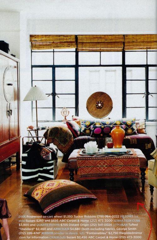 Bohemian Chic Interior: Gypset Style-Boho Chic