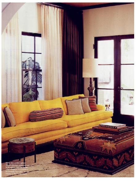 Boho chic interior design a house in silverlake designed