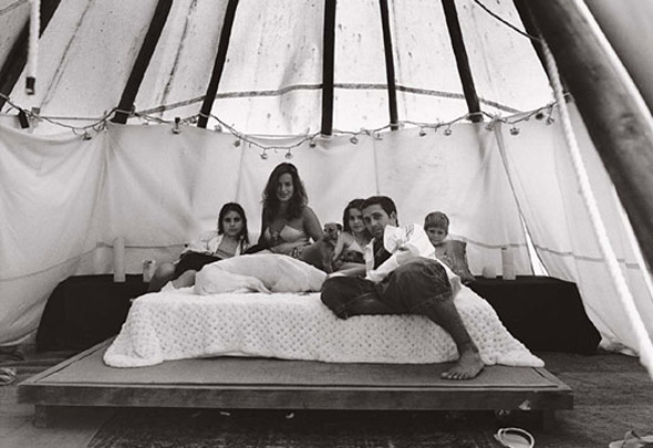 Image result for Jade Jagger and her family in their tent at their home in Ibiza